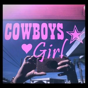 ANY sports team window decal Dallas cowboys